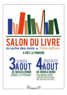 """[EVENEMENT] """"LA RUCHE DES MOTS"""" - 7eme Salon du livre a Riez"""