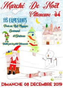 Marché de Noël de Villeneuve , un marché hors du commun le 8 Décembre !
