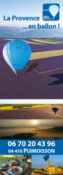 Vister la Provence en ballon cela vous tente ?