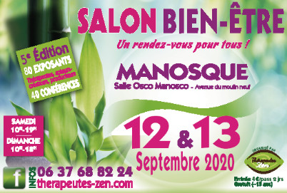 """Passez un week-end """"Bien-être"""" les 12 & 13 Septembre à Manosque"""