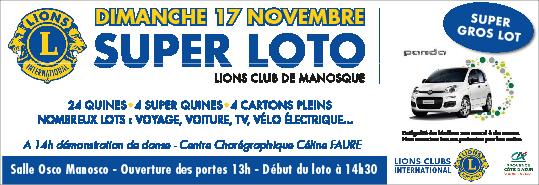 [ANIMATION] Le loto du Lions Club à Manosque. Tentez votre chance 8
