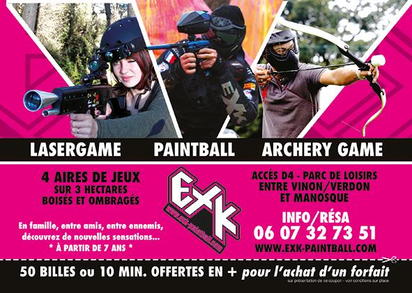 Paint-Ball // Laser Game en plein air chez EXK Paintball