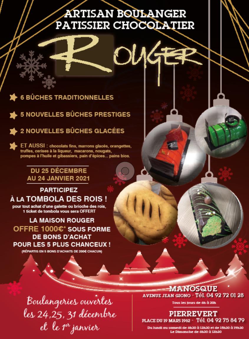 [Noël] Les boulangeries rouger subliment vos fêtes de fin d'année !
