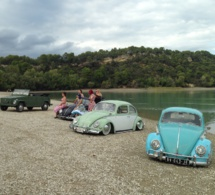 Un rassemblement d'anciennes Volkswagen