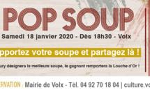 """La 6eme Edition de """"POP SOUP"""" se passe à Volx le 18 Janvier 2020 !"""