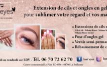 Les extensions de cil et ongles en gel chez Lun'Eyes à la Brillanne